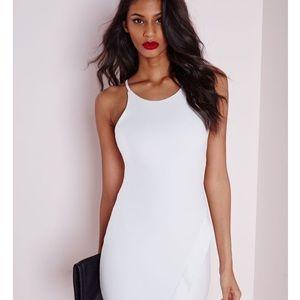 Bachelorette white asymmetric dress! Missguided